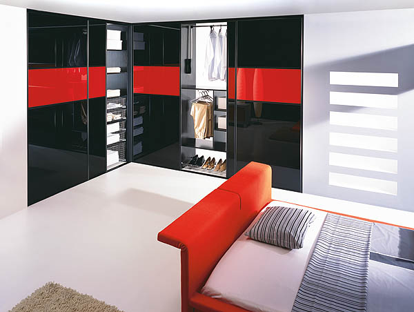 Fitted High Gloss Wardrobes Bedroom Furniture In